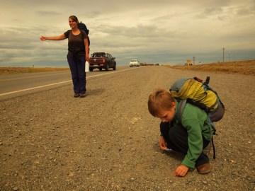 Autostop z dzieckiem w Argentynie