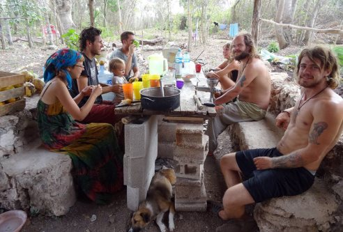 Wytwtuowani podróżnicy w Meksyku