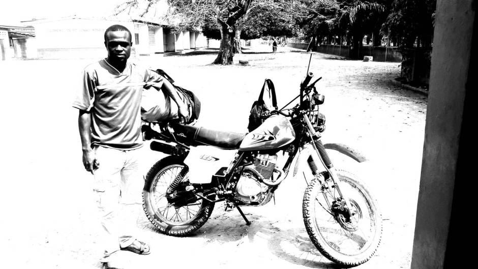 Motocyklista z Konga