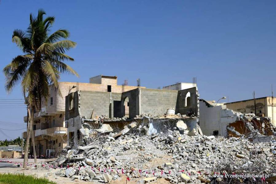 Oman - ruiny wsi - zdjęcia z podróży