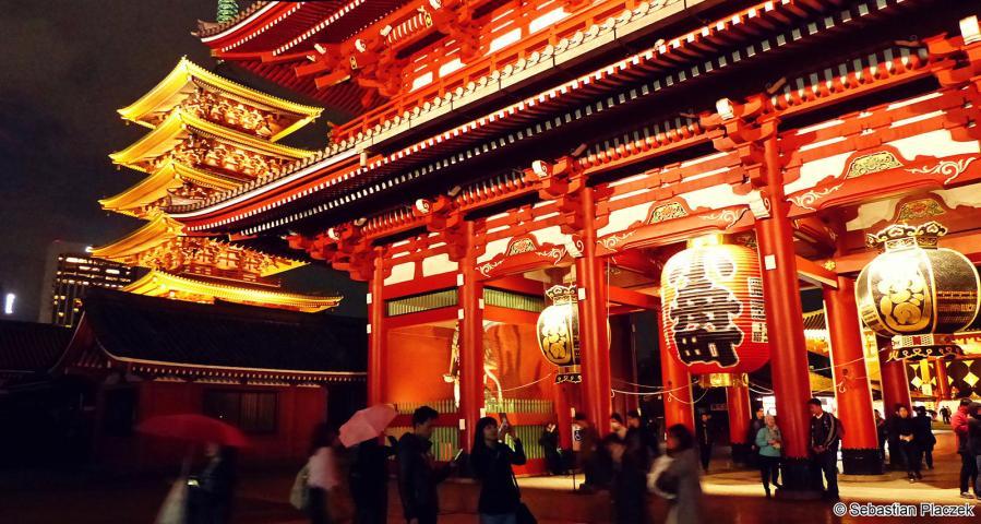 AsakusaShrine, zdjęcia z wycieczki po Tokio