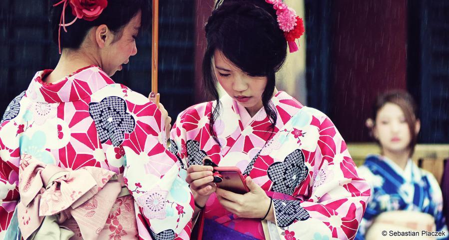 Zdjęcia z podróży do Japonii - kobiety z Kioto