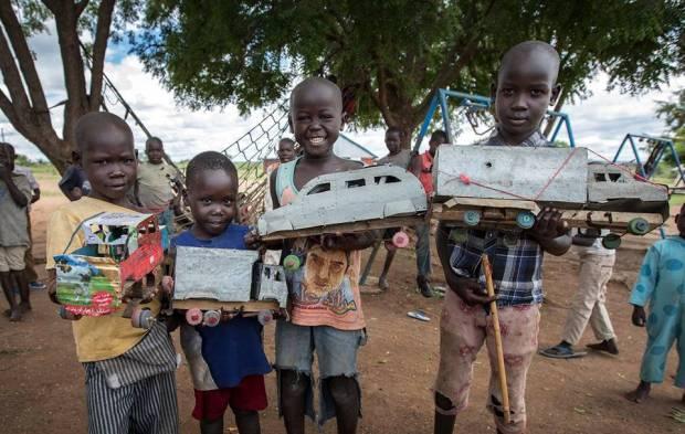 Machine Gun Pracher w Nimule w Sudanie Poludniowym