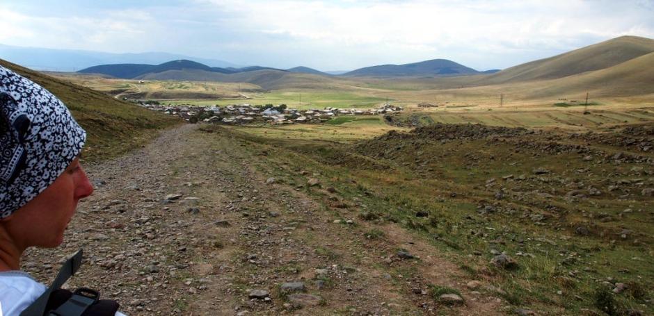 Gruzińska wieś Abuli w górach Samsarskich