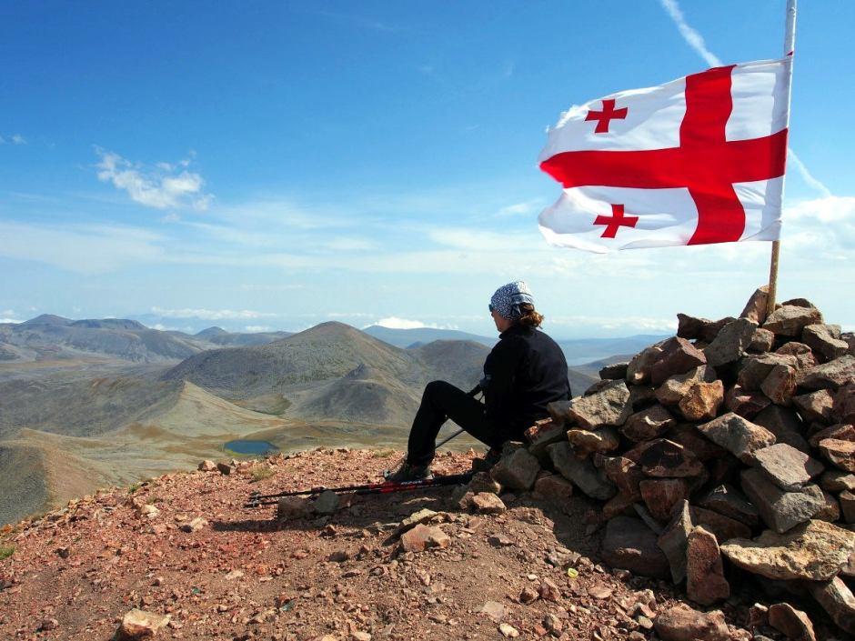 Gruzja. Na szczycie Didu Abuli w górach Samsarskich
