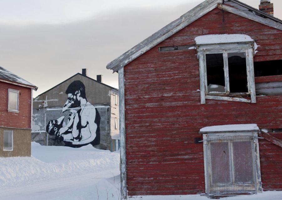 Vardø, street art, Pøbel