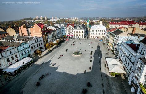 Rynek w Cieszynie - zdjęcia z drona, foto