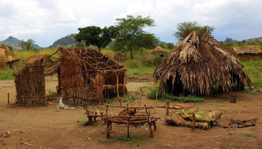 Wieś w Sudanie Południowym
