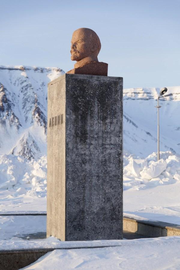 Spitsbergen, Piramida. Pomnik Lenina