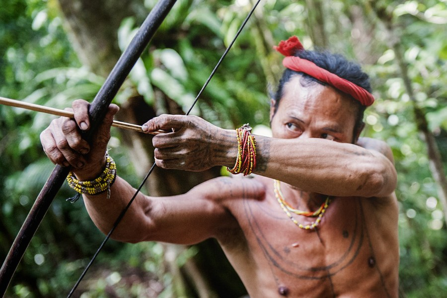 Szaman Mentawajów, Aman Tople, Siberut w Indonezji