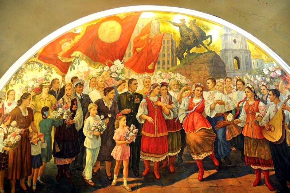 Zdjęcia z podroży moskiewskim metrem