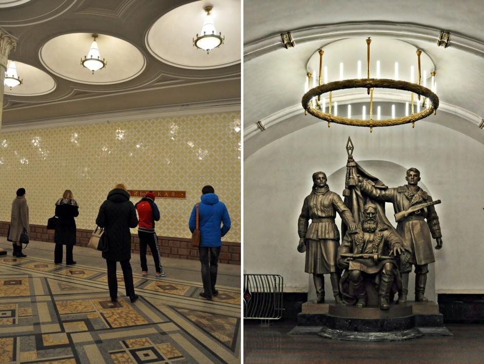 Moskiewskie metro - zdjęcia