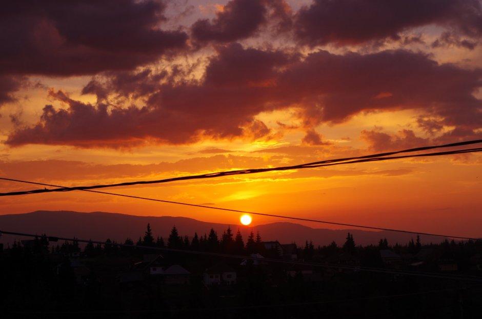 Zachód słońca w Rumunii