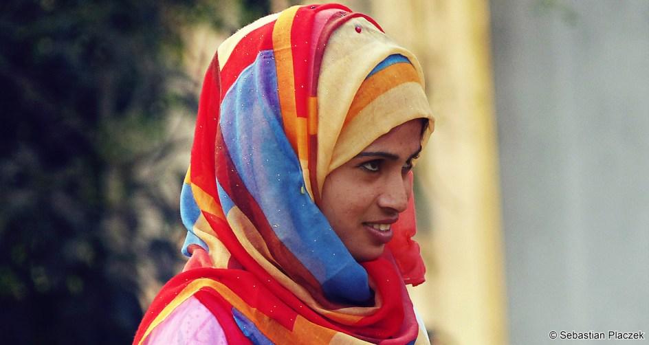 Zdjęcia z Bangladeszu - muzułmanka z Dhaki