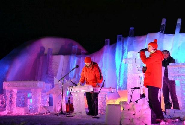 Koncert, lodowy festiwal muzyczny w Geilo, Norwegia 2017