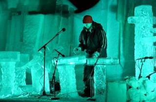 Geilo w Norwegii. Ice Music Festival, koncert