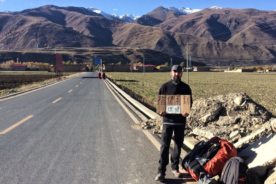 Tybet, Ganzi, Autostop w Chinach