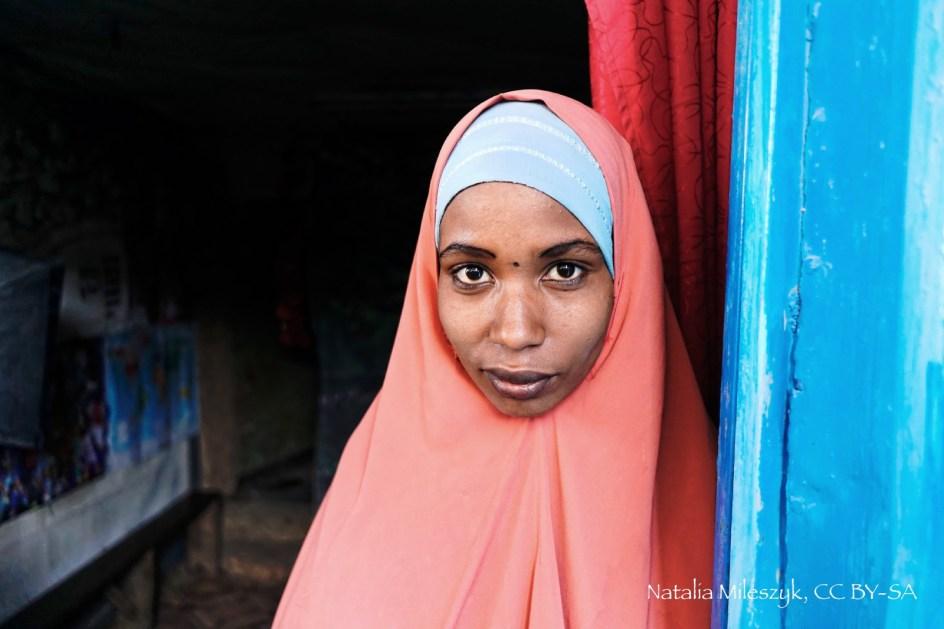 Etiopia, Harer, portret muzułmanki, zdjęcia z podróży