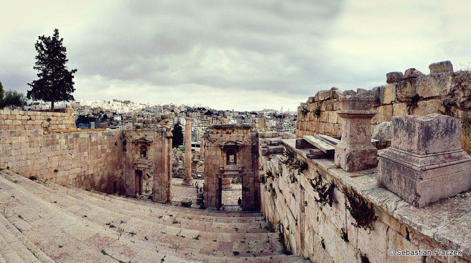 Jordania, ruiny w Dżarasz, zdjęcia