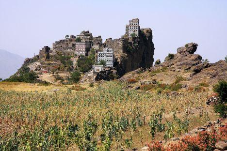 Jemen, miasto Al Hajjar w górach Haraz, zdjęcia z podróży
