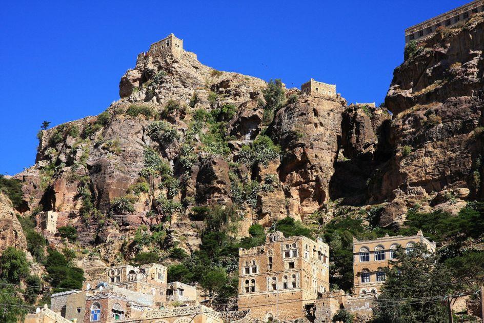 Jemen, miasto Thula, trekking, góry Haraz