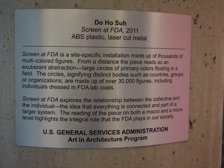 Information about the FDA art installation