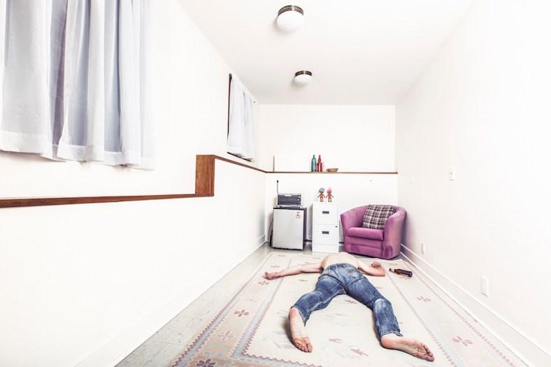 Man fallen over on a mattress via Gratisography.com