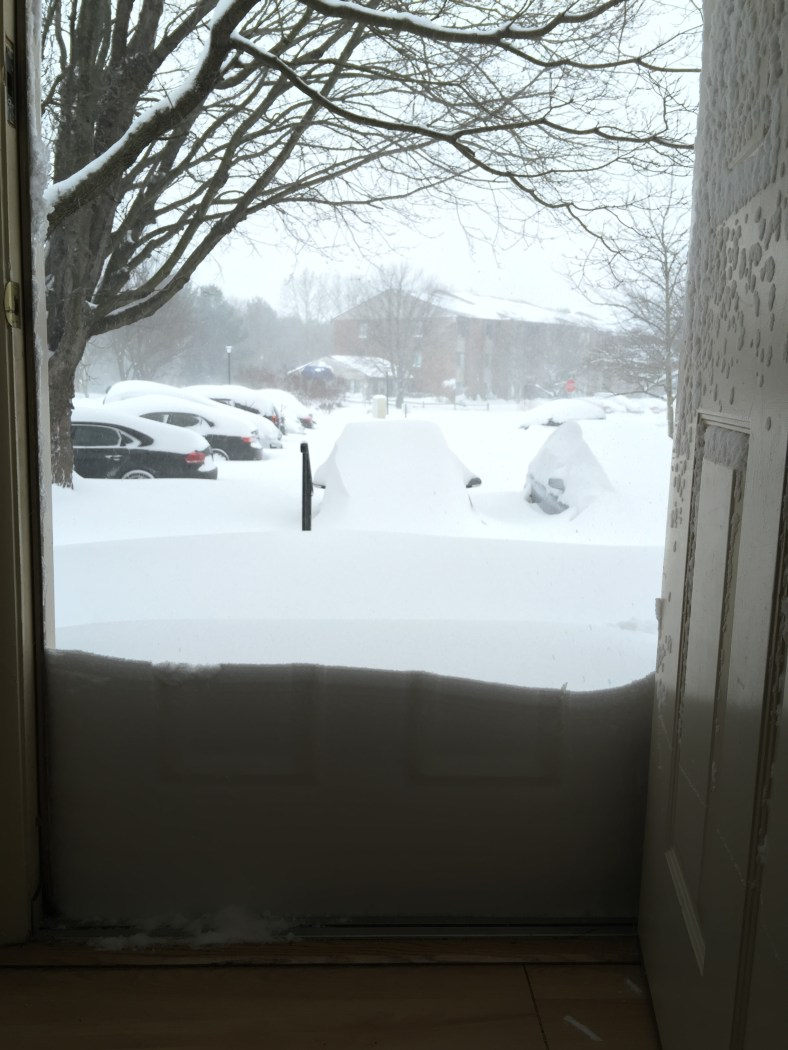 Front door, before!