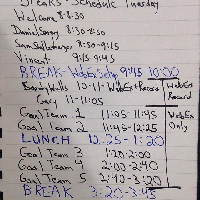 Organizational Notes
