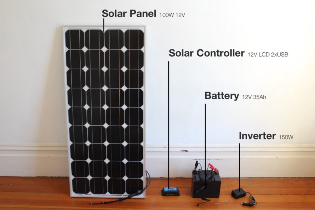 Parts requires for this solar project