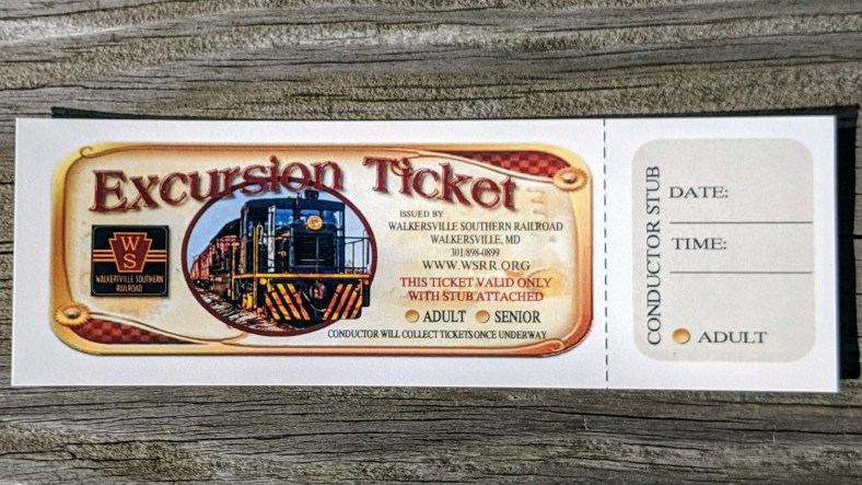 Autumn Excursion train ticket
