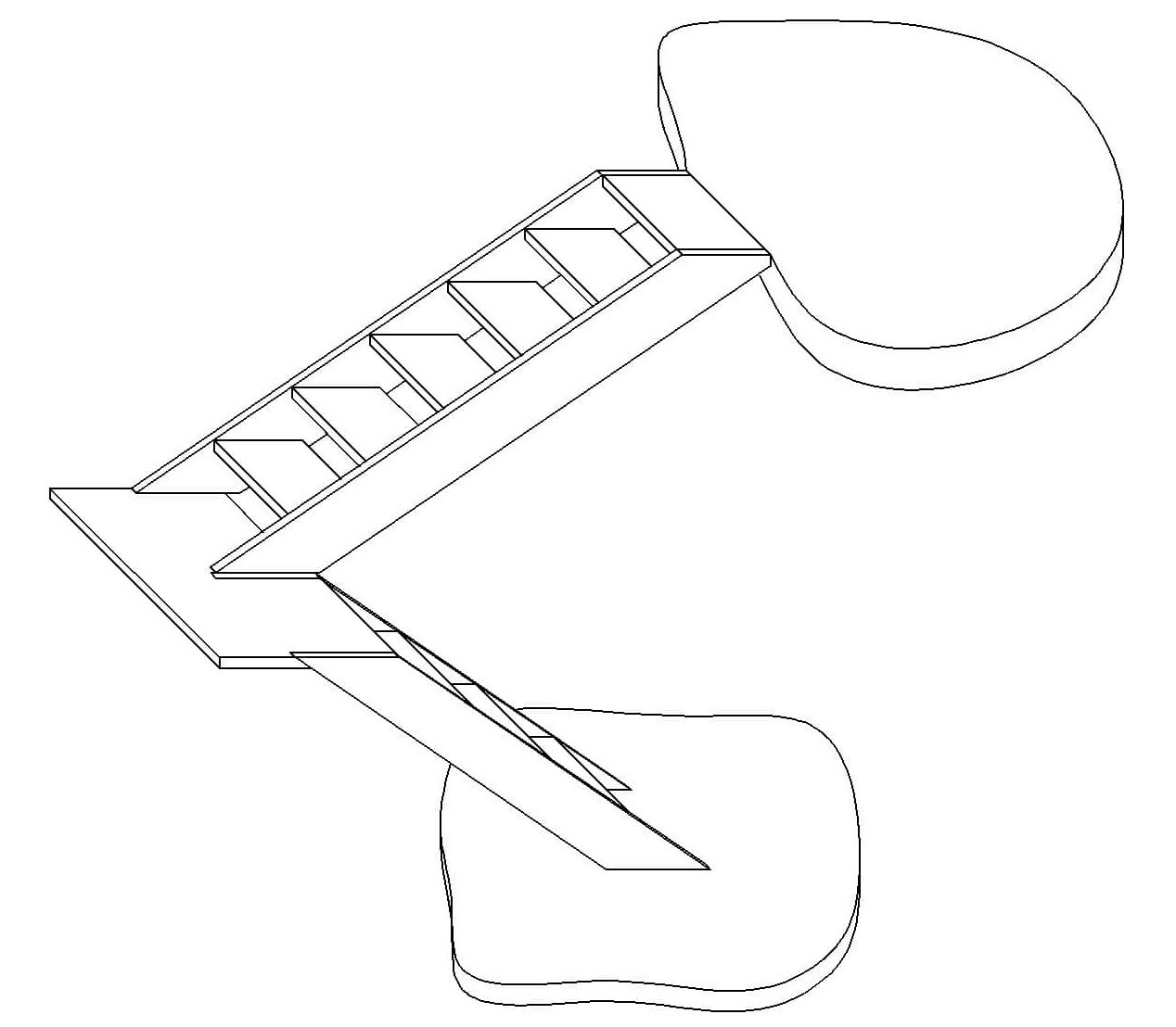 3d U Shaped Staircase Calculator Building Materials