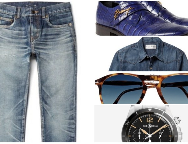 Double Denim Look by Bill Papastathis