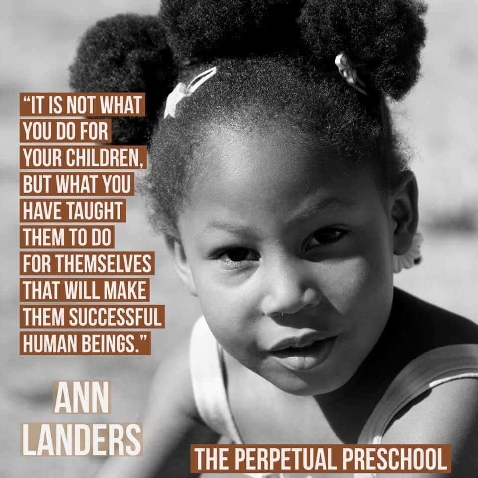 The goal of teaching preschoolers