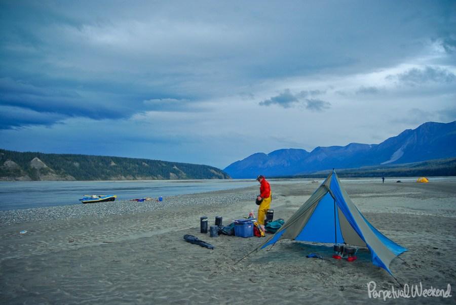 chitina river sand bar camping