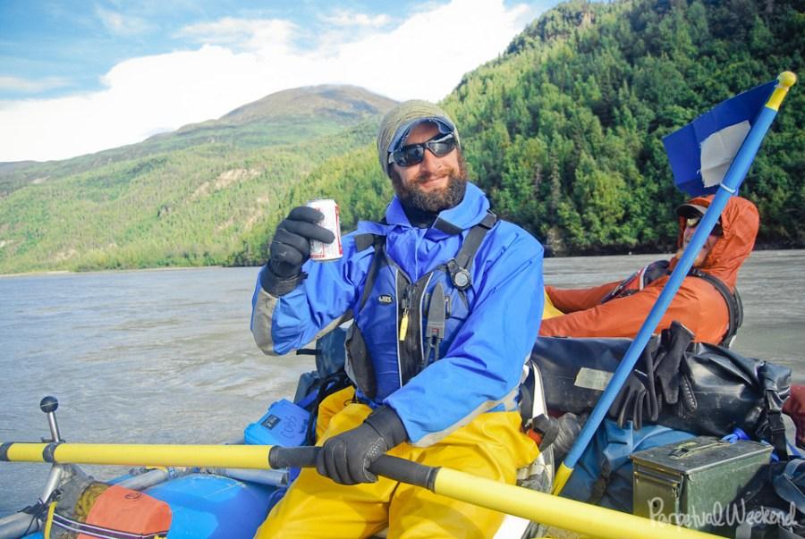 budweiser toast, copper river, alaska, boat, float