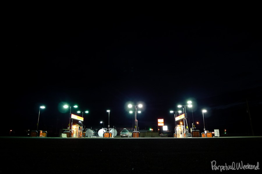gas station, icefield parkway