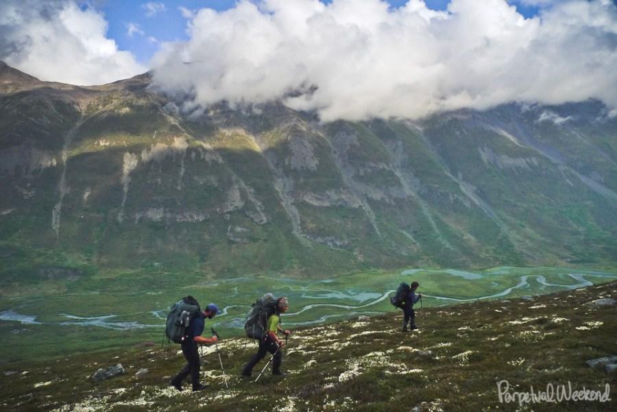 Klu River hiking, Wrangell St Elias, Alaska