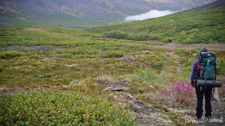 bush plan resupply for our backpacking trip in Wrangell St Elias National Park, AK