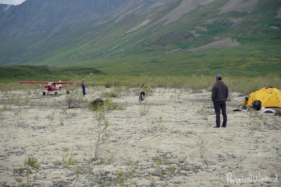 garry green bush plane landing gravel bar alaska