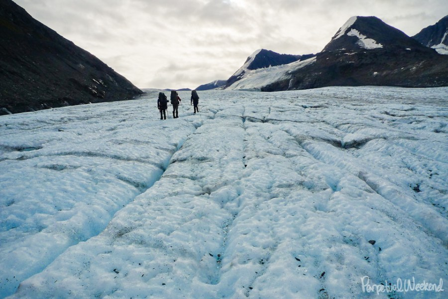glacier walking, hike backpack, walk in alaska