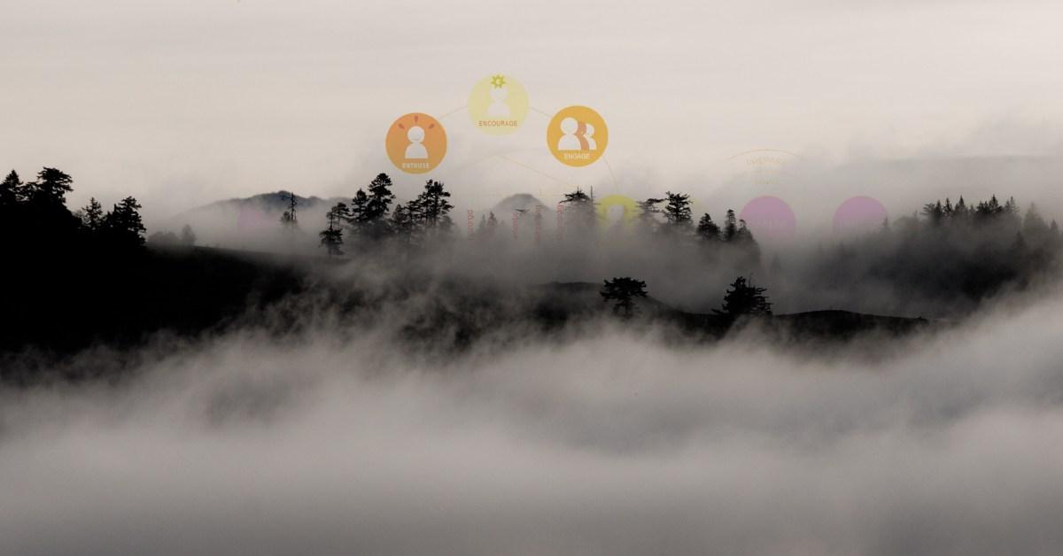 Bollen in de mist