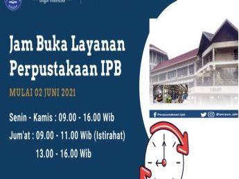 Jam Buka Layanan Perpustakaan IPB