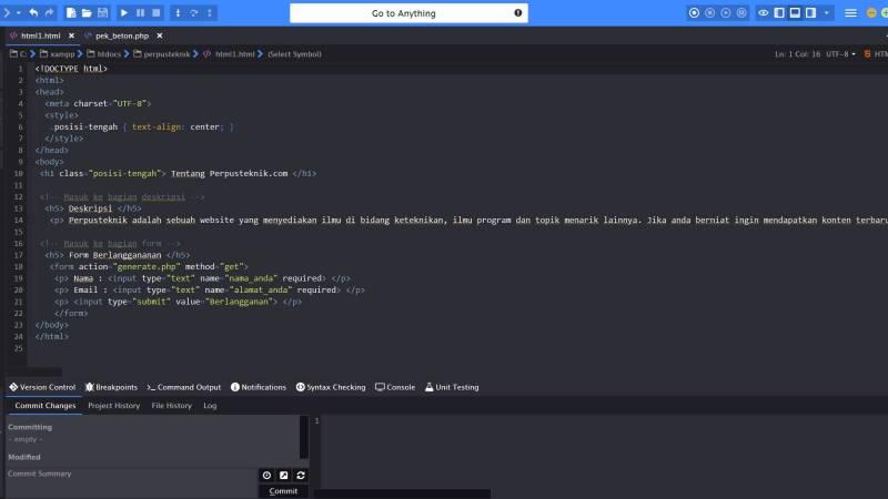 aturan penulisan html