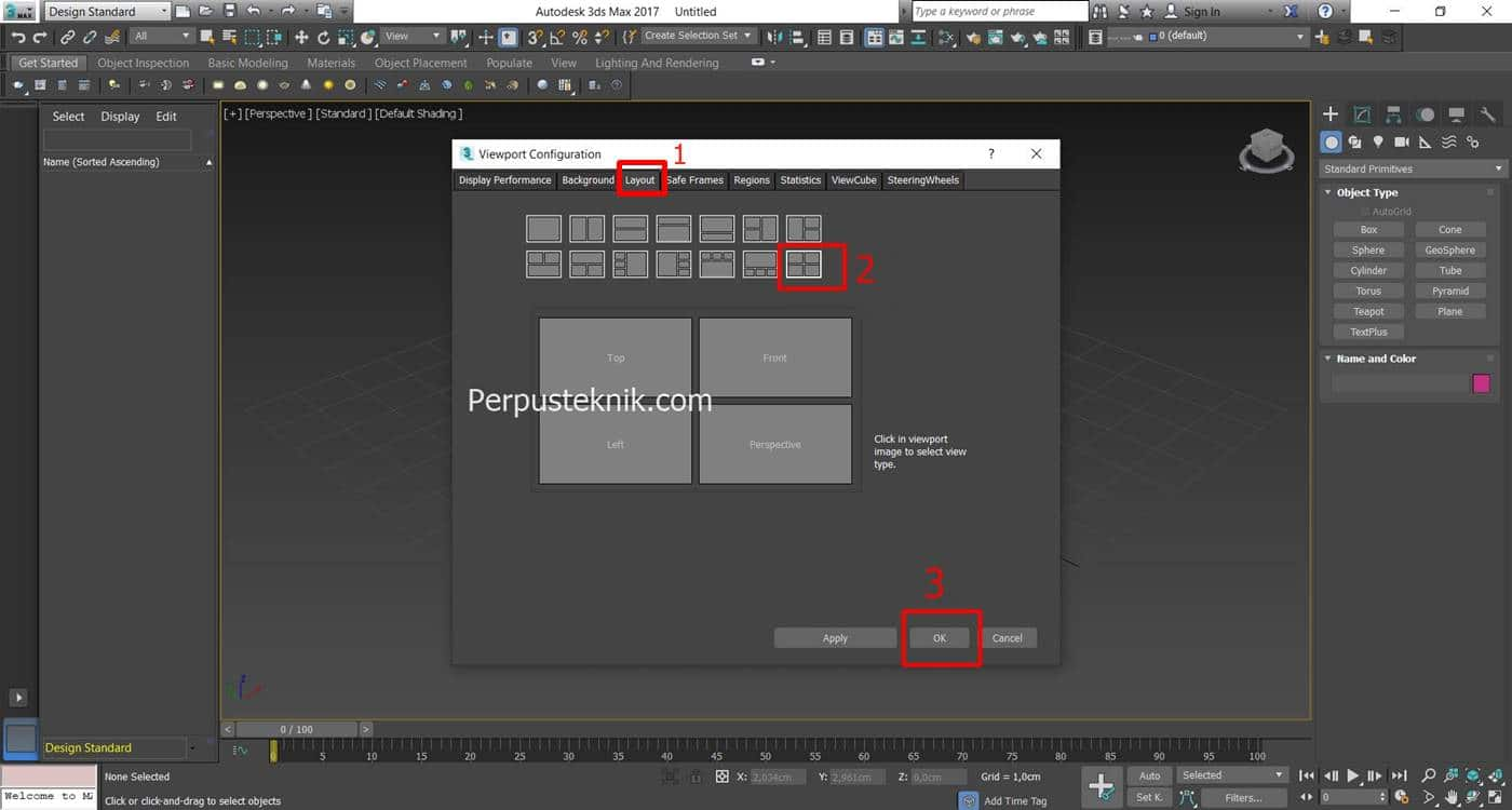 Cara membagi layout 3ds max