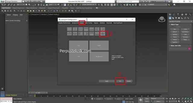 membagi layout 3ds max