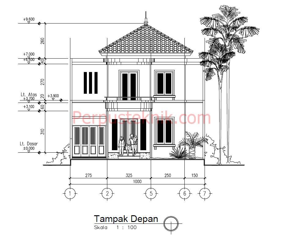 Rumah Minimalis 2 Lantai Luas 100 M  download gambar rumah minimalis 2 lantai 10 x 20 dwg