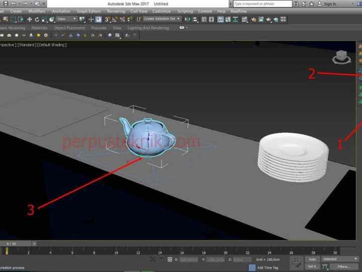 Cara menggambar di 3ds max tepat di permukaan bidang