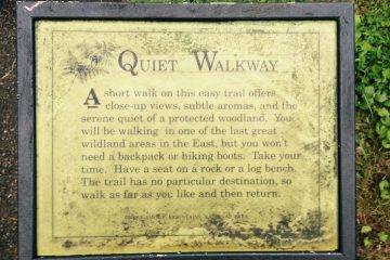 Quiet Walkway Sign