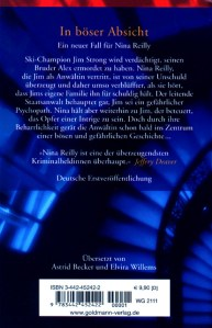 Acts of Malice German Edition Back
